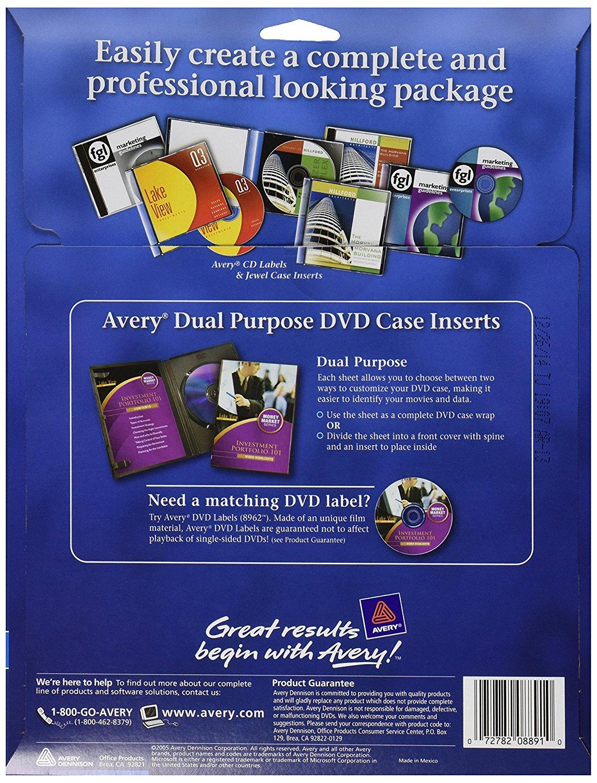 8891 inkjet dvd case inserts matte white pack of 20 cd dvd jewel