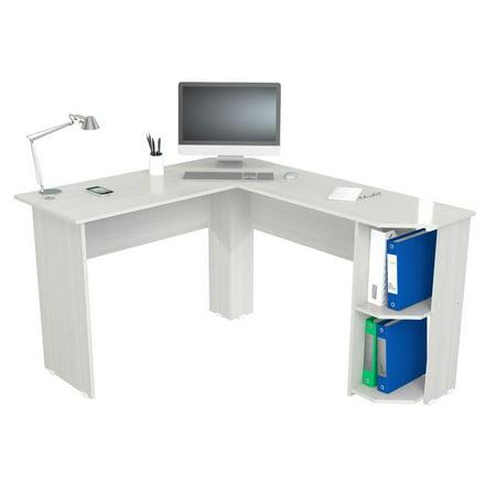 Inval Merlin Traditional White Corner Desk (Inval L Shaped Desk)