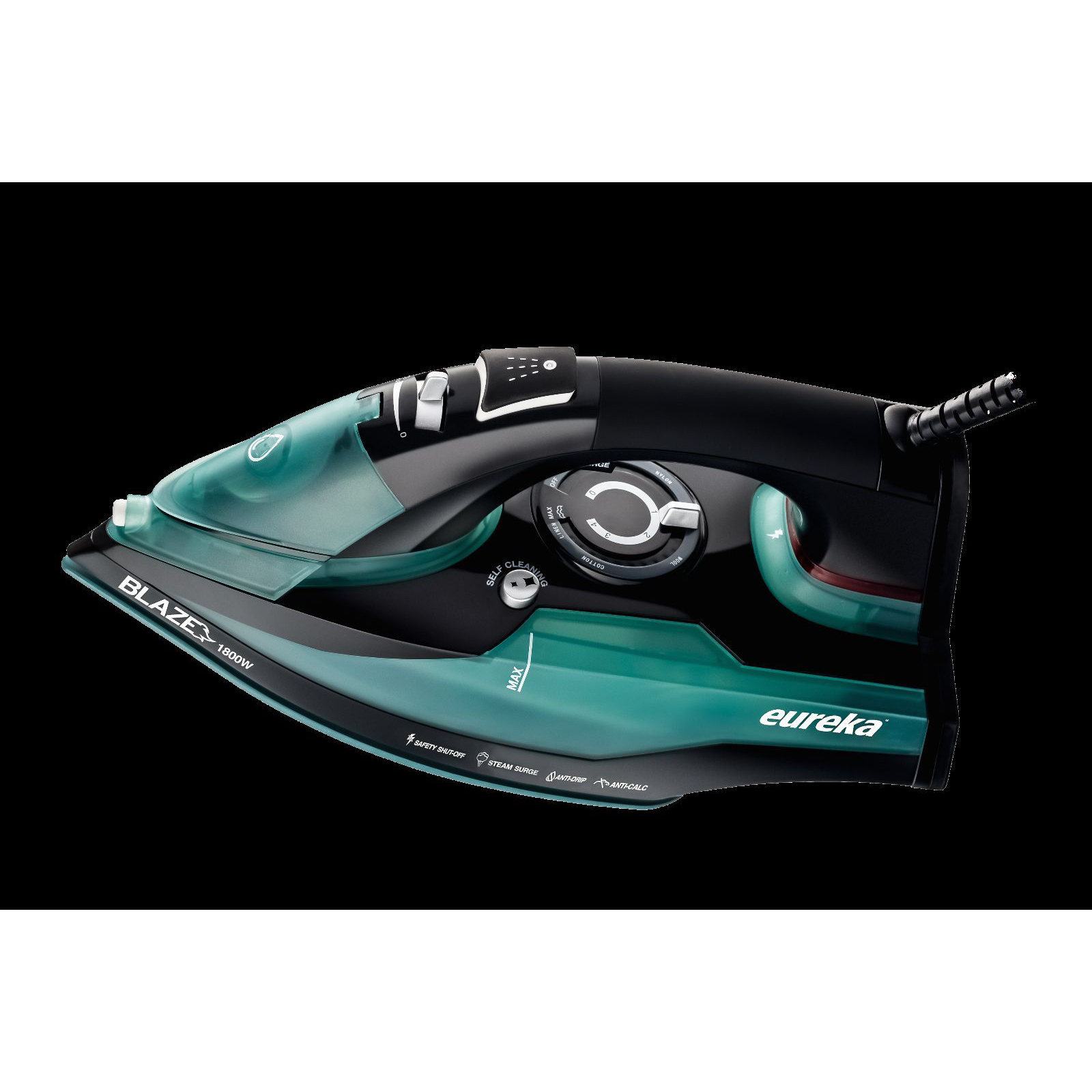 Eureka Blaze Original Ultra Hot 1800 Watt Iron Powerful Steam Surge Technology Aqua
