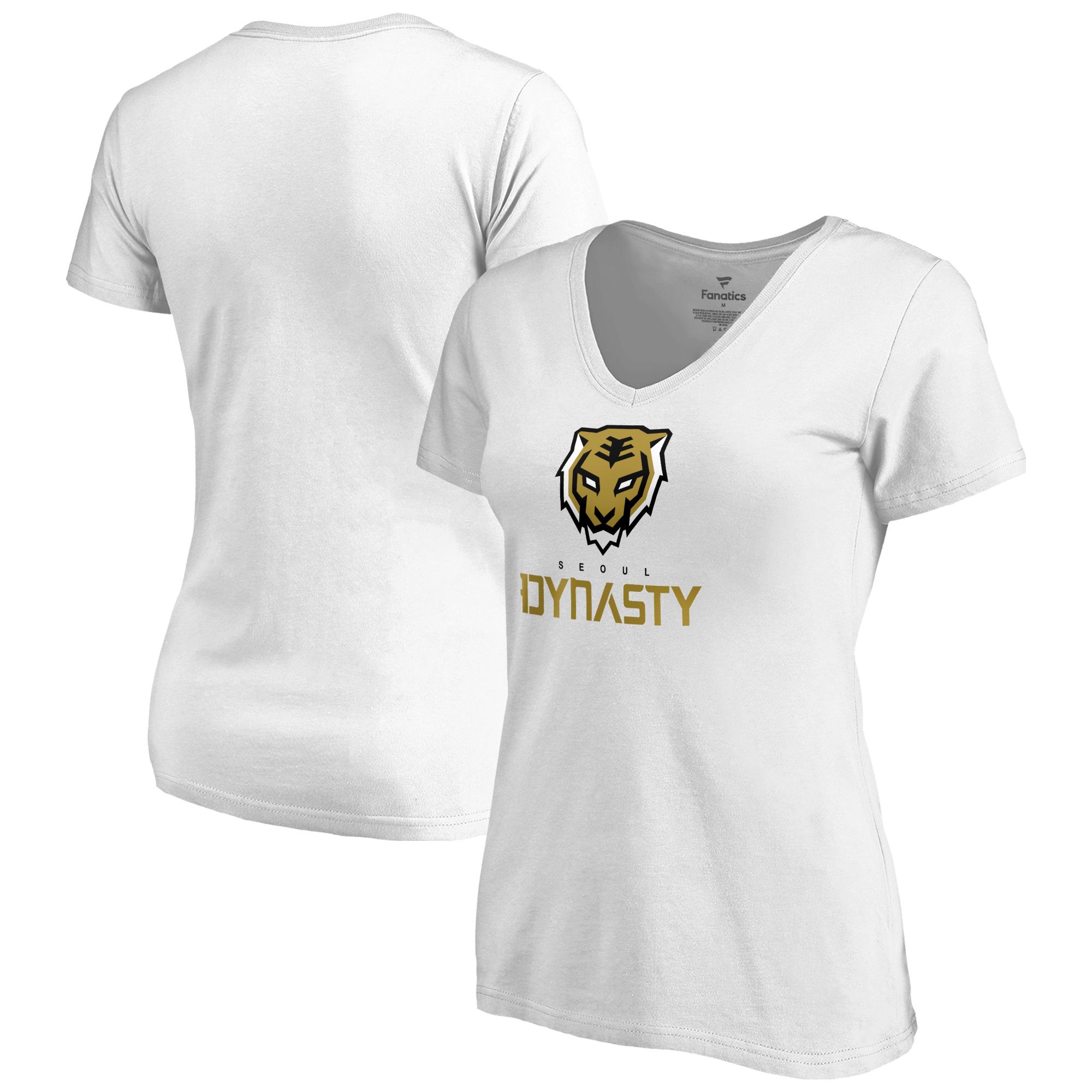 Seoul Dynasty Fanatics Branded Women's Team Identity V-Neck T-Shirt - White