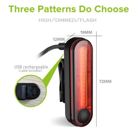 Durable Great Bike Bicycle Lights USB LED Rechargeable Set Waterproof Mountain Cycle Front Tail Back Useful