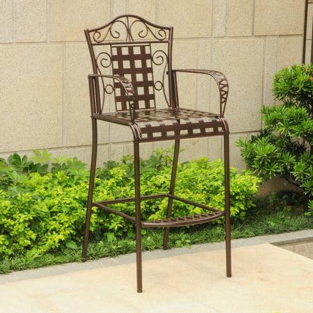 - Mandalay Iron Bar-height Dining Chairs (Set of 2)