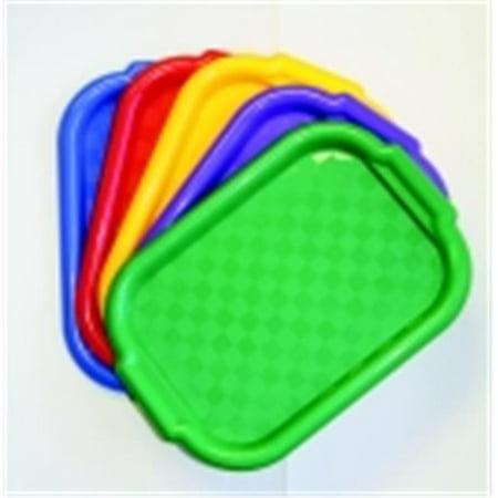 Jack Richeson 15 x 10.5 in. Heavy Duty Multi-Purpose Plastic Colored Tray, Set 5