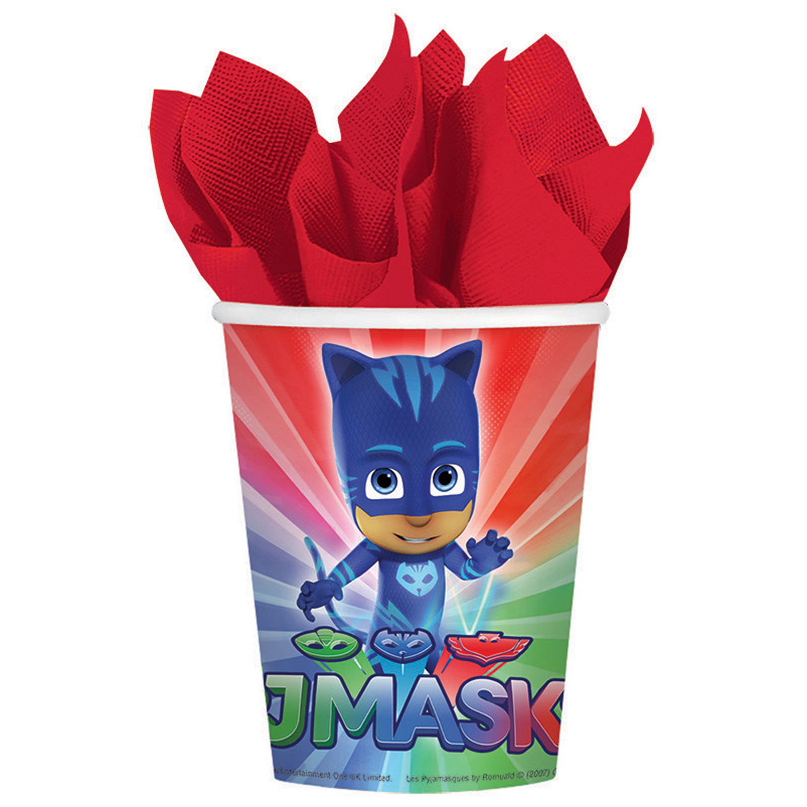 PJ Masks Party Supplies Paper Cups for 8 AMZ ONLY