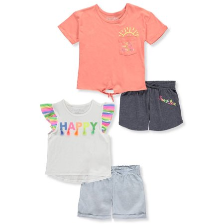 Happy Mix and Match, 4-Piece Outfit Set (Little Girls & Big Girls)