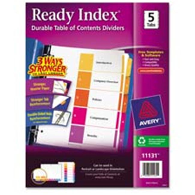 Avery Consumer Products AVE11187 Ready Index Dividers- 1-5 Tab- 3HP- 8-.50in.x11in.- 6-ST- Asst by Avery