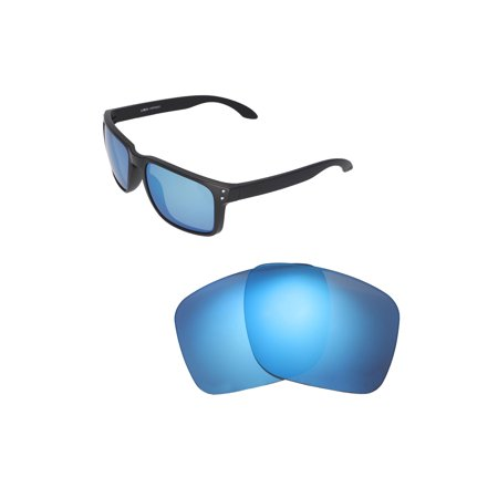 Walleva Ice Blue Polarized Replacement Lenses for Oakley Holbrook XL - Ice Blue Contact Lenses Halloween