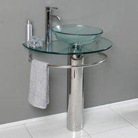 Belvedere 29.5 in. Modern Single Bathroom Vanity with Glass Sink