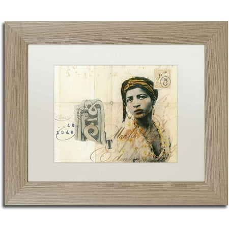 Trademark Fine Art Ronda Maur Canvas Art By Nick Bantock  White Matte  Birch Frame