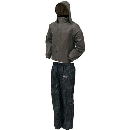 Frogg Toggs All Sport Rain Suit, Stone Jacket/Black Pants, Size (Medium Rainsuit)