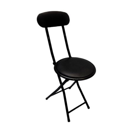 Portable Small Black Folding Chair Padded With Lock