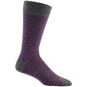 Darn Tough Vermont Men's Merino Wool Classic Dot Crew Light Socks Purple Large
