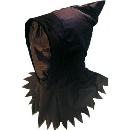 Ghoul Black Hooded Mask - Ghoul Mask