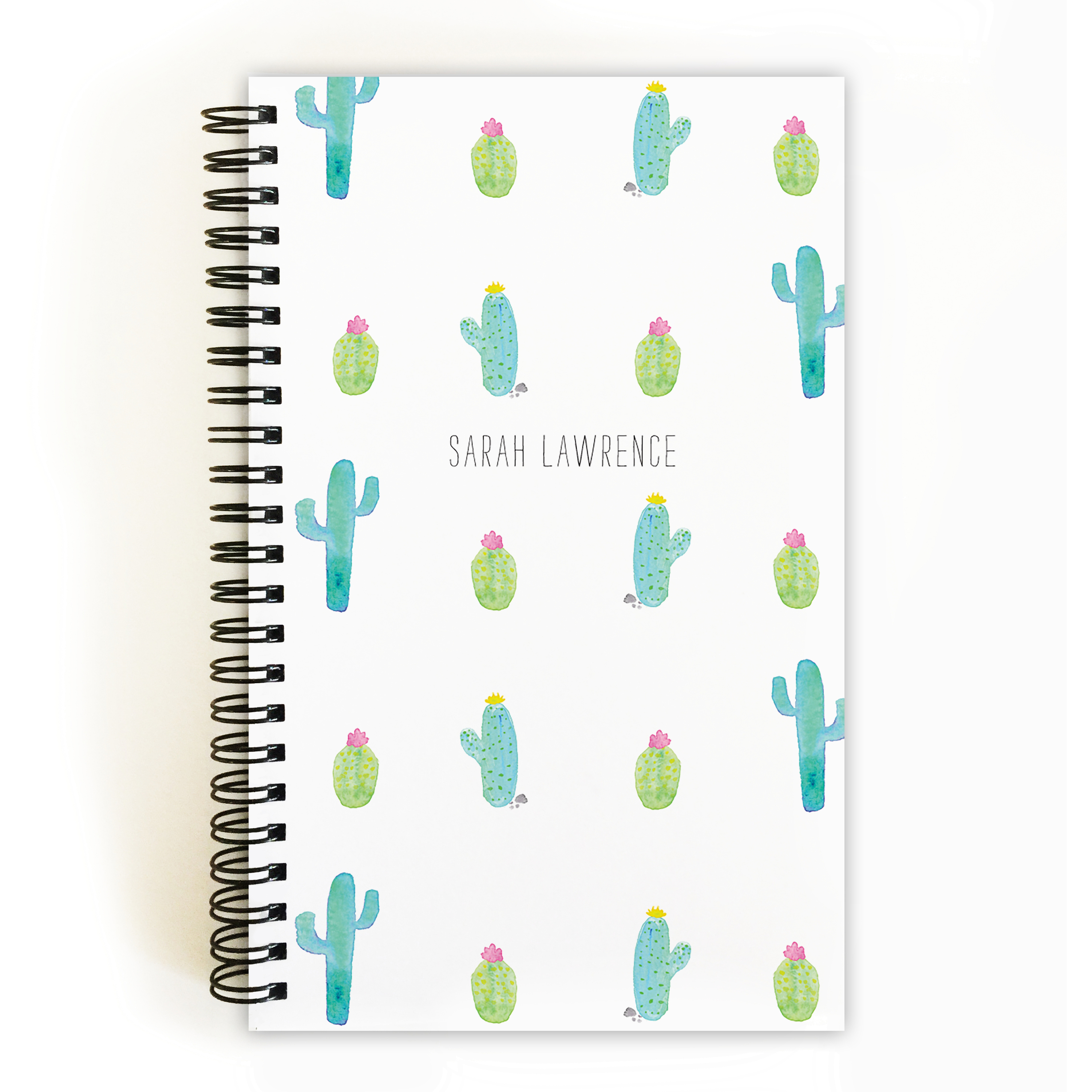 Hello Cactus - Personalized 5 x 8 Notebook