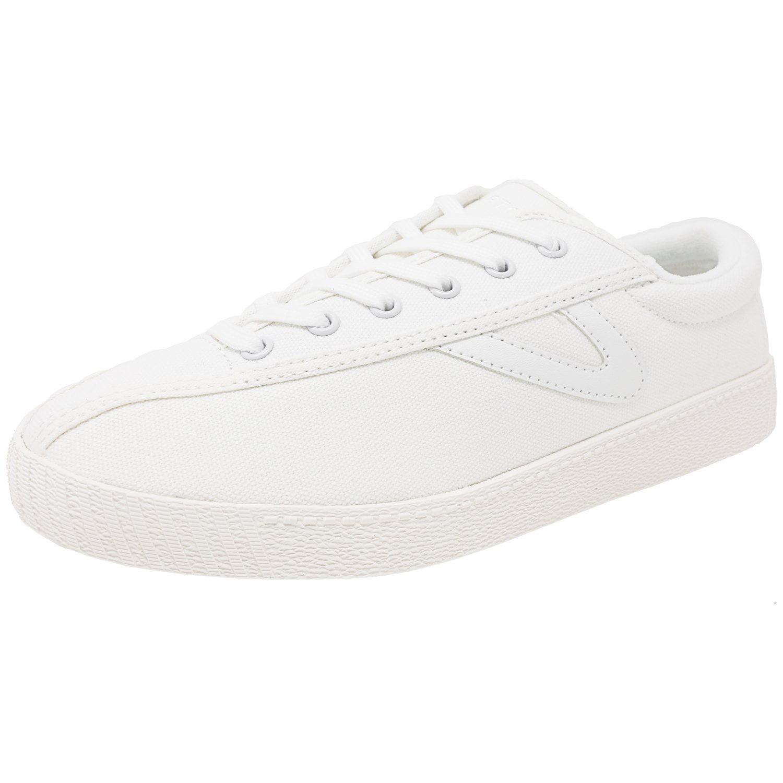 Tretorn Women's Nylite Plus Canvas Black   White Fashion Sneaker 9.5M by Tretorn