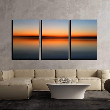 Wall26 3 Piece Canvas Wall Art Abstract Colorful Motion Blurred