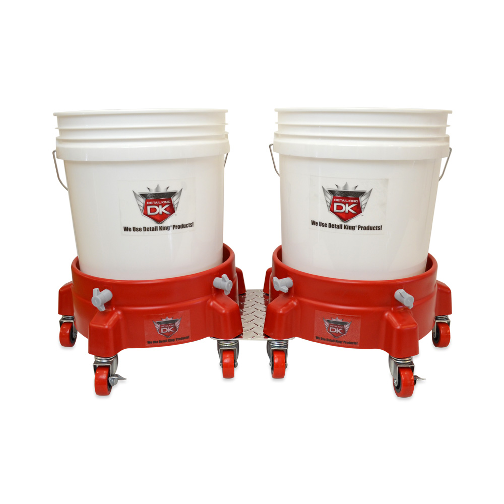 Grit Guard Double Bucket Dolly Car Wash Systme