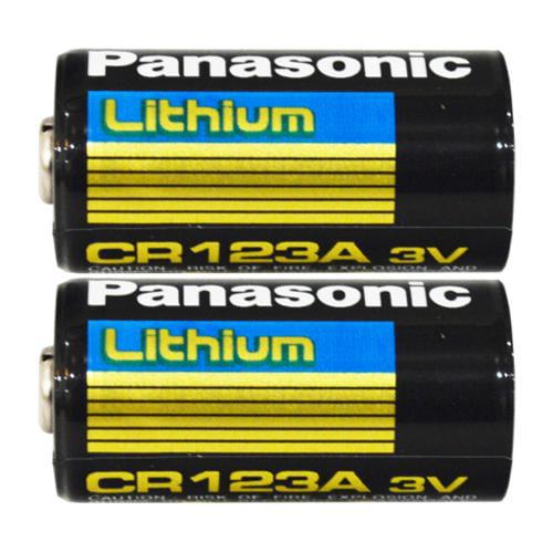 Panasonic CR123A 3V Long Lasting Lithium Batteries - 2 Pack