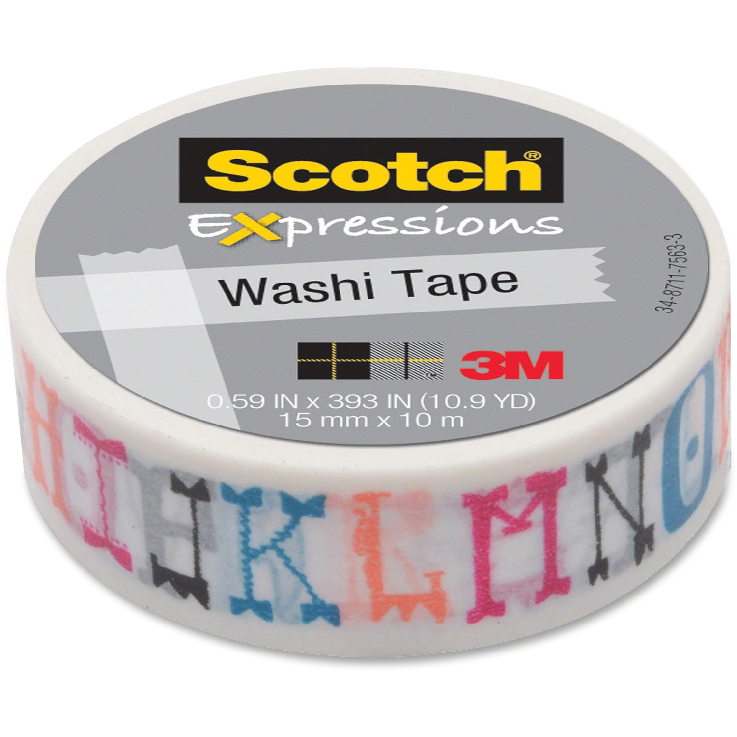 SCTCH EXPRS TAPE 0.59 IN MLTPL CLR DCRTV TP WRP