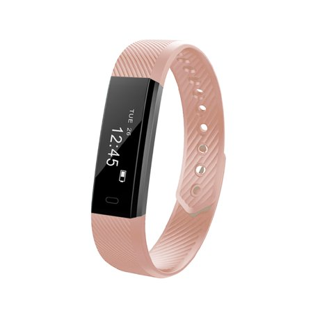 Fitness Tracker Smart Bracelet BT Call Reminder Remote Self-Timer Smart Watch Activity Tracker Calorie Counter Wireless Pedometer Sports Band Sleep Monitor for Android iOS (Best Wearable Calorie Counter)
