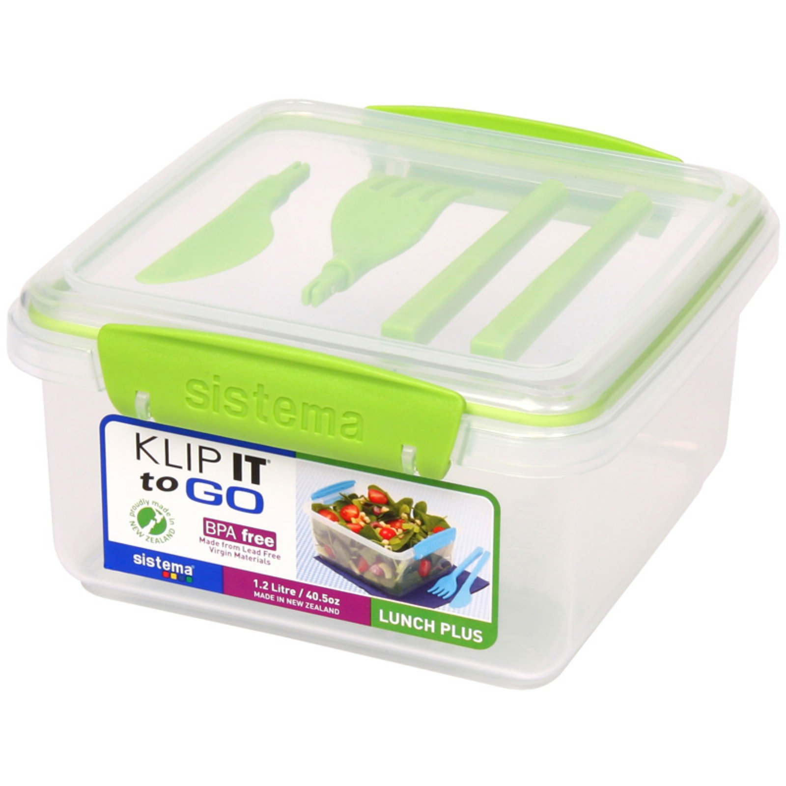 Sistema US 2 L Clear Lunch Cube Max Box To Go with Yogurt Pot