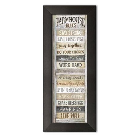 August Grove 'Farmhouse Rules' Textual Art ()