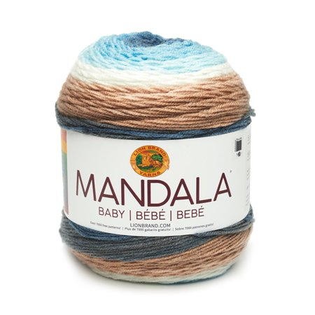 Mandala Baby Wishing Well - New Color, Available in 12 bright and beautiful color combinations, Mandala Baby is the newest member of the Mandala yarn.., By Lion Brand