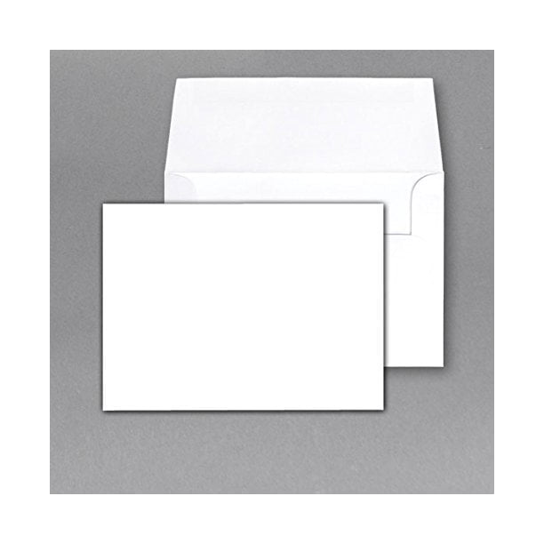 80 Lb White Heavy Blank Note Cards And Envelopes Size A7 5 X 7 50 Per Pack This Is Not A Fold Over Card Walmart Com Walmart Com
