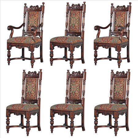 Design Toscano Classic Edwardian Dining Chairs