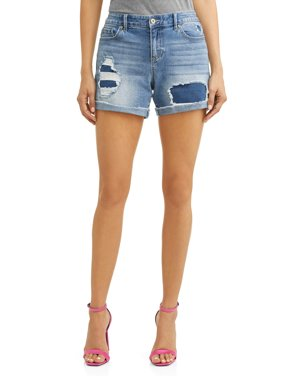 32cc05b08f99f Product Image Lila Destroyed Relaxed Jean Short Women s (Light Indigo Wash)