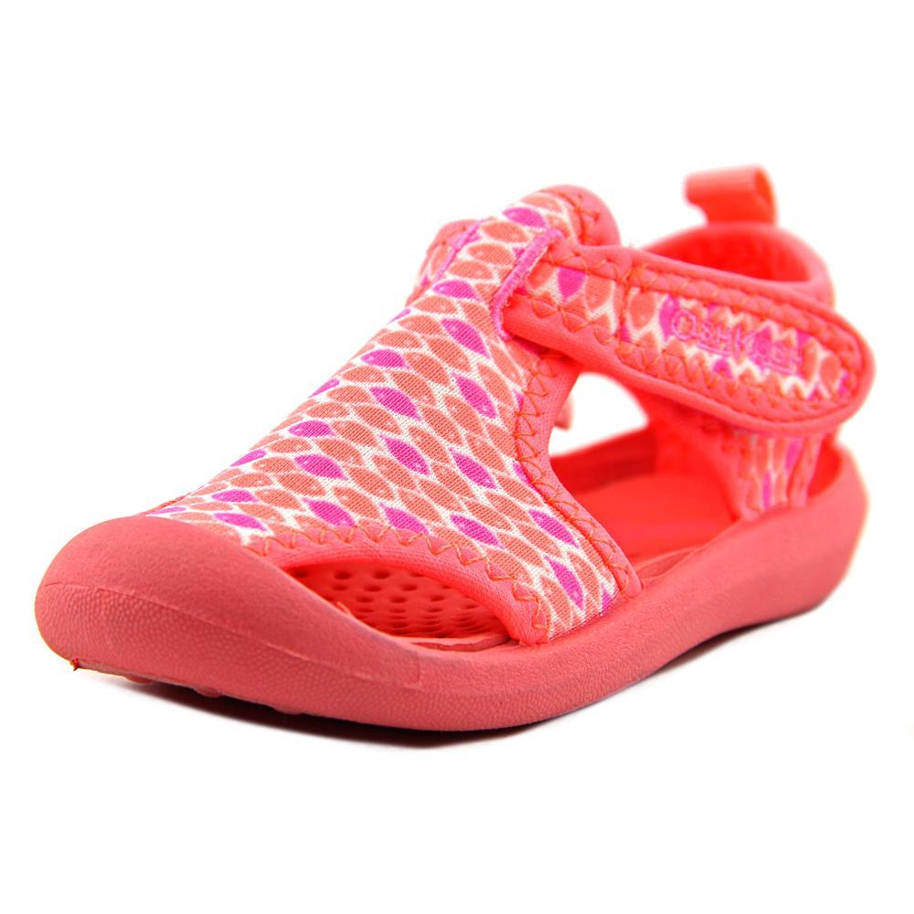 osh kosh aquatic toddler toe canvas pink water shoe