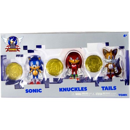 Tomy Sonic 25Th Anniversary 3   Collector Figure Pack With Coin