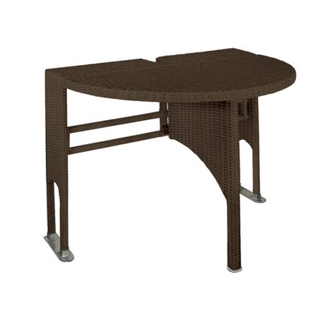 Terrace Mates All-Weather Wicker Drop-Leaf, Gate-Leg Folding Half Tables, Coffee