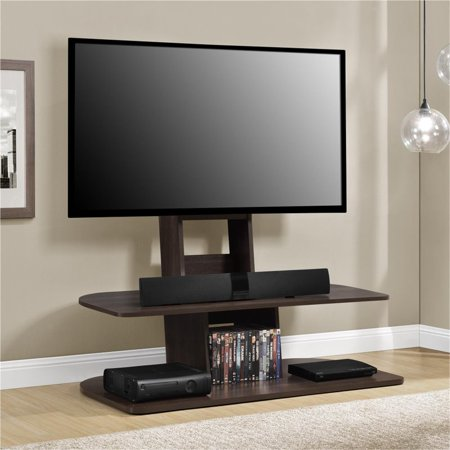 Linon Walnut Tv Stand (Altra Galaxy XL TV Stand with Mount for TVs up 65