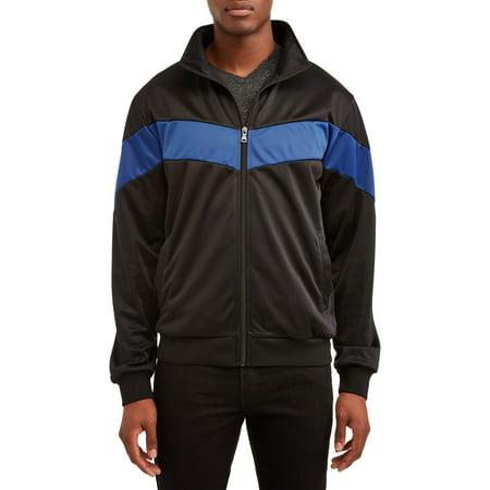 Men's Full Zip Track Jacket, Up to Size (Nylon Harrington Jacket)