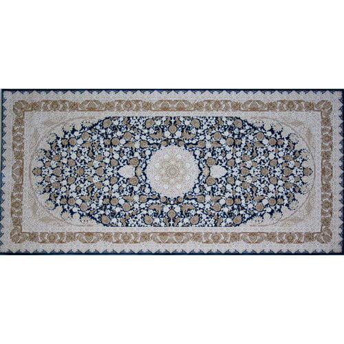 Astoria Grand Overcash Hand Look Persian Wool Blue/Brown/Beige Area Rug