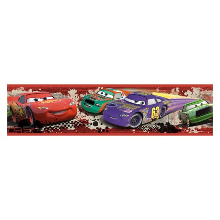 RoomMates Cars Piston Cup Racing Peel & Stick Border