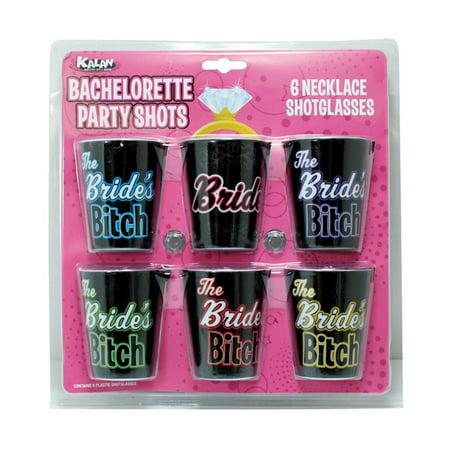 Bachelorette Party Shots The Bride's Bitches - Pack of 6](Bachelorette Shop)