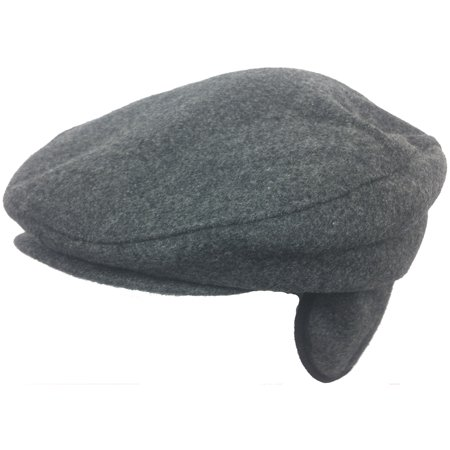 2b6ecee1c5d Wool Blend Ear Flap Ivy Cap Winter Irish Hat Driver Scally Flat Newsboy  Gatsby - Walmart.com