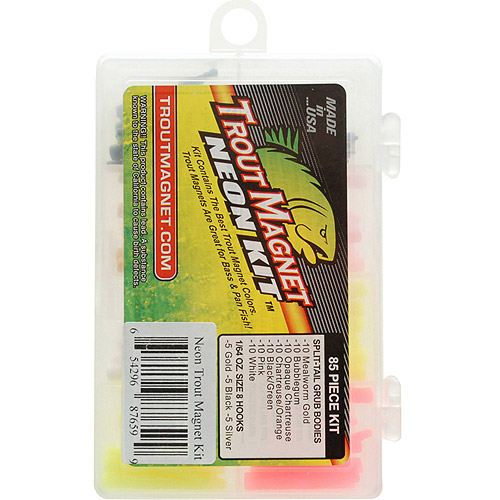 Leland Lures 85pc Trout Magnet Neon Kit