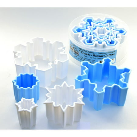 R & M International Corp. 5 Piece Snowflake Plastic Cookie Cutter Set - Snowflake Cookie