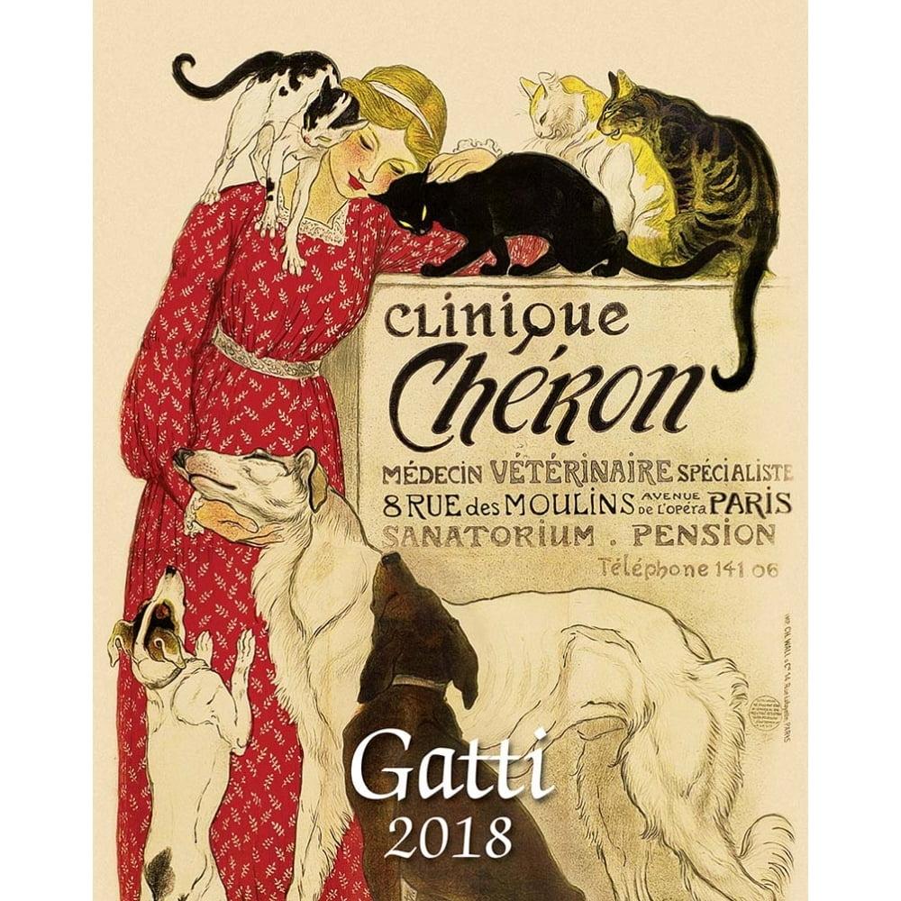 2018 Gatti Desk Calendar (Bilingual), Cat Art by Istituto Fotocromo Italiano by