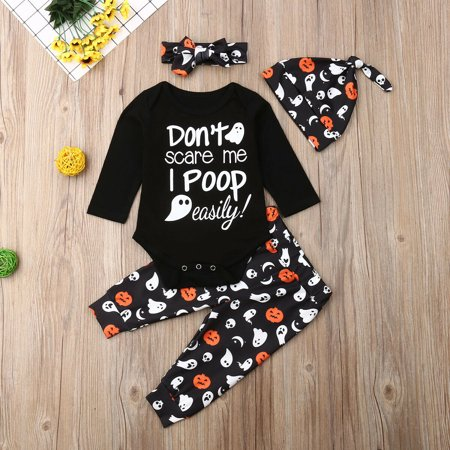 Infant Baby Boy Girl Halloween Costume Playsuit Romper Pants Clothes Outfit