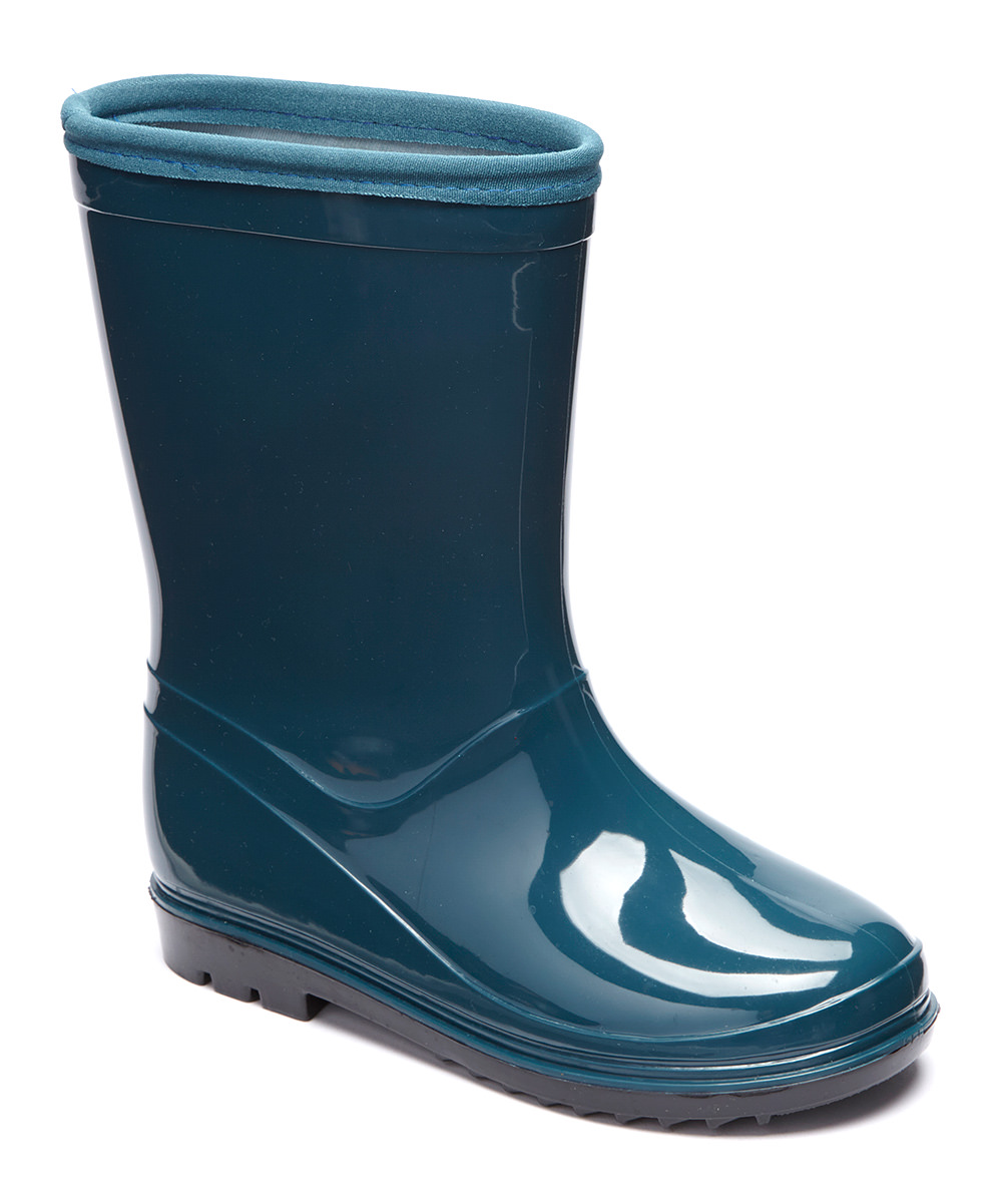 Itasca PUDDLE HOPPER Toddler Youth Turquoise Green Blue Waterproof Rain Boots by
