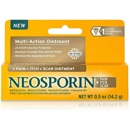 Neosporin + Pain Itch Scar Multi-Action Ointment 0.5 oz (Pack of (C Section Scar Pain 2 Years Later)