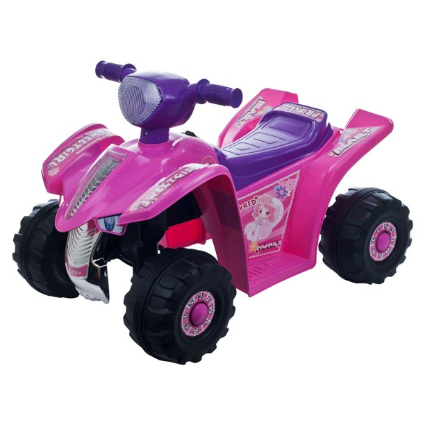 Ride On Toy Quad Battery Powered Ride On Toy Atv Four Wheeler By Hey Play Ride On Toys For Boys And Girls For 2 5 Year Olds Pink And Purple Walmart Com Walmart Com