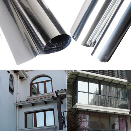 15% Silver Reflective Transmittance Insulation Sticker Window Film One Way Mirror 50cm x - Heat Reflective Window Film