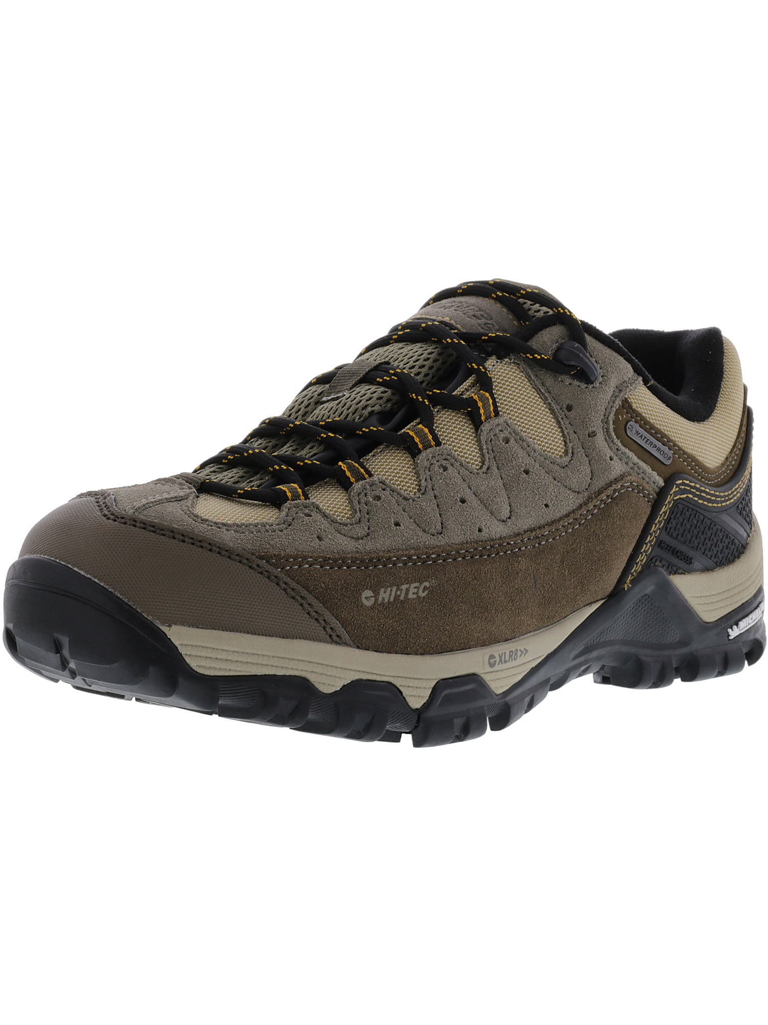Hi-Tec Men's Ox Belmont Low I Waterproof Taupe   Brown Core Gold Ankle-High Suede Hiking Shoe 11.5M by Hi-Tec