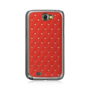 For Samsung Galaxy Note 2 Case, by Insten Fish Scale Rubber Coated Hard Snap-in Case Cover With Diamond For Samsung Galaxy Note II