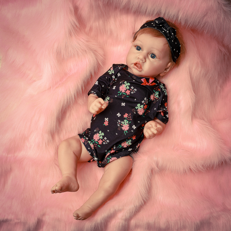 22Inch Toddler Reborn Baby Dolls Handmade Vinyl Silicone Newborn Accompany Doll